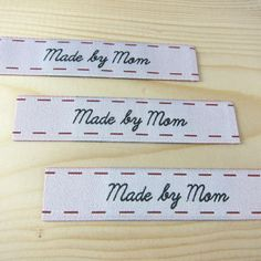 Made By Mom Sew-In Woven Label