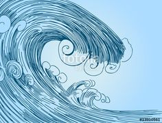 """Download the royalty-free vector """"Tsunami Wave Drawing"""" designed by John Takai at the lowest price on Fotolia.com. Browse our cheap image bank online to find the perfect stock vector for your marketing projects!"""
