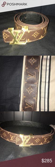Louis Vuitton Brown Belt Authentic genuine lightly used Louis Vuitton belt Louis Vuitton Accessories Belts