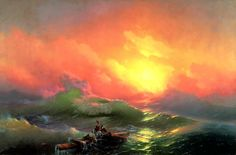 Russian Painter: Ivan Aivazovsky - 'The Ninth Wave'