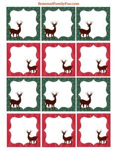 Reindeer Gift Tags #freebie