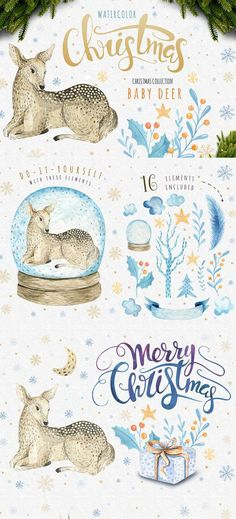 Awesome watercolor graphics included in this fabulous creative artistic bundle on Design Cuts   Inkstruck Studio