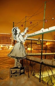 """The Russian Banksy""..Known as ""P183"" #street art #graffiti"