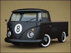 VW T1 pick-up matte black