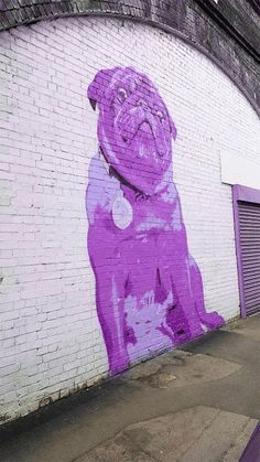 Gif made from glorious pug street art. For more visit RushWorld boards STREET ART GRAFFITI, JUNK ART TREASURES and ART A QUIRKY SPOT TO FIND YOURSELF. See you at RushWorld!