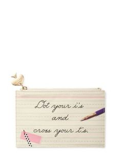 dot your i's pencil pouch - kate spade new york