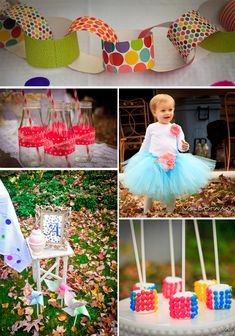 marshmallows!    Cute Polka Dot Birthday Party details!