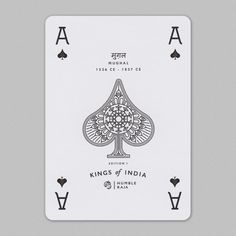 Kings of India Ace King Of India, Ace Of Spades, Tarot Cards, Playing Cards, Collection, Letters, Tarot Card Decks, Cards, Tarot