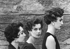 Variations of an Italian haircut, June 1953 by dovima_is_devine_II, via Flickr