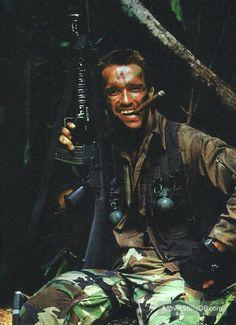 Predator - Promo shot of Arnold Schwarzenegger