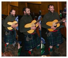 Rory McCann in a kilt and with a guitar, October 2010, source and location unknown.