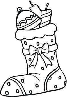 The Christmas coloring pages called Christmas Sock to coloring. Christmas socks like you see in the coloring page are a great Christmas symbol. San Nicolas saw their socks drying in the fireplace, and put some gold coins in them for each daugther Christmas Colors, Christmas Crafts, Christmas Sock, Gata Marie, Embroidery Patterns Free, Free Coloring Pages, Create Your Own, Socks, Holiday