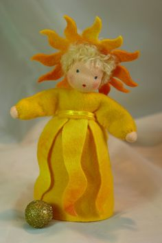 The Sun Flower Child Waldorf Inspired by KatjasFlowerfairys, €33.00