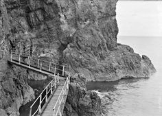 Entrance to Low Water Cave, Island Magee, Belfast, Co. Antrim