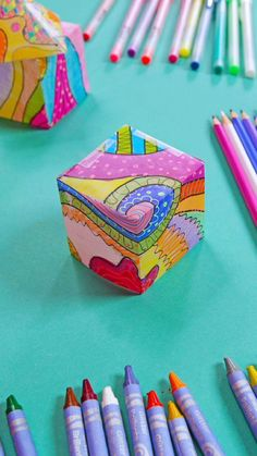 Let's create colorful mini paper lanterns using vellum and a variety of art supplies. Use them as party decorations! Science Projects For Kids, Creative Activities For Kids, School Art Projects, Arts And Crafts Projects, Creative Kids, Easy Projects, Crafts For Kids, Babble Dabble Do, Curious Kids