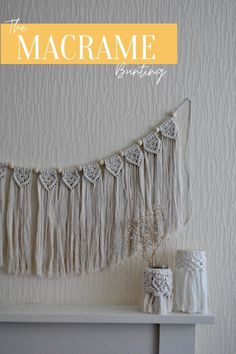 Walls looking a little drab? Maybe your fireplace needs a little home-made décor love.   This ultra fringed Macramé bunting / garland is a simple fix, adding warmth and texture to any space.   Better yet, this bunting is made from natural fibers and is 80% recycled material - beautiful sustainable décor eat your heart out.  Check out the bunting in our shop, along with the rest of our Macramé creations on Etsy (MacramallamaStudios). Bunting Garland, Bunting Ideas, Quirky Decor, Natural Interior, Eco Friendly House, Natural Texture, Natural Living, Decoration, Cosy