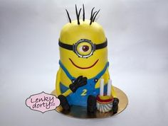 Minion - cake by Lenkydorty