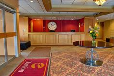 Clarion Hotel in DuBois is located just off exit 97 on I-80. This beautiful lobby is a welcome retreat after a long drive. This hotel is pet friendly, outdoor pool, restaurant/lounge, and wireless internet. Located at 1896 Rich Highway.