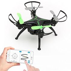 Worlds Easiest Fly App Controlled Mini Drone 720P HD WiFi Camera Gyro RC Quadcopter Gravity Sensor OneKey Return Headless Mode 3D Flips TWO Batteries * See this great product-affiliate link. #Drone