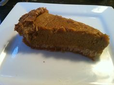 Perfect Paleo Pumpkin Pie #PrimalBliss