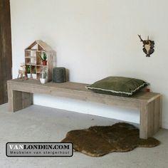 Bank / bankje zonder leuningen van steigerhout ... www.vanlonden.com