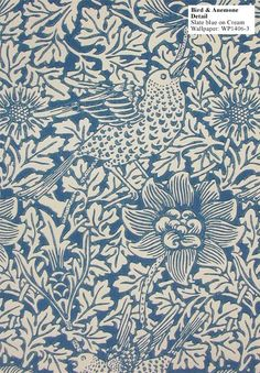Need William Morris in the home!...love the Bird & Anemone print.    Historic Style - BirdAnemone WP1406 3 DET