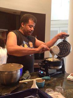 Neil DeGrasse Tyson makin' some waffles