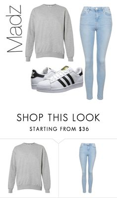 """MadeByMadz"" by madzmoney ❤ liked on Polyvore featuring moda, Topshop, adidas Originals, women's clothing, women's fashion, women, female, woman, misses y juniors"