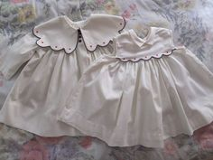 VINTAGE SUZY BROOKS RED WHITE & BLUE COTTON BABY DOLL DRESS & MATCHING COAT