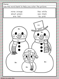 Sight Word Coloring Sheets For Kindergarten activities coloring pages africaecommerceco Sight Word Coloring Sheets For Kindergarten. Here is Sight Word Coloring Sheets For Kindergarten for you. Sight Word Coloring Sheets For Kindergarten . Christmas Color By Number, Christmas Colors, Christmas Material, Winter Fun, Winter Theme, Early Finishers Activities, Kindergarten Activities, Group Activities, Educational Activities