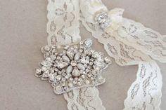 Bridal garter set - Viva mini silver