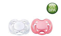 As chupetas ortodônticas SCF178/23, colapsáveis e simétricas da #PhilipsAVENT respeitam o desenvolvimento natural do palato, dentes e gengivas do bebé. Todas as chupetas da Philips AVENT são feitas de silicone e não têm sabor nem cheiro. As cores estão sujeitas a alterações.