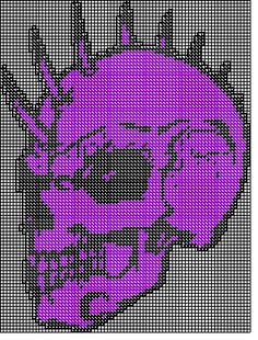 skull with spikes