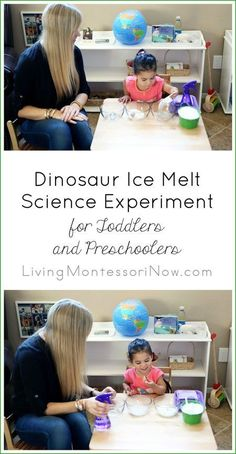 A fun dinosaur ice melt science experiment for toddlers and preschoolers, adapted from Asia Citro's new book, The Curious Kid's Science Book. Post includes a YouTube video of the science experiment.