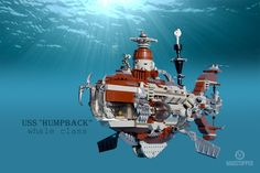 "LEGO Steampunk Submarine ""The Humpback"" by ""Madstopper"""
