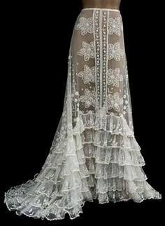 bellydance costume inspiration vintage white lace skirt