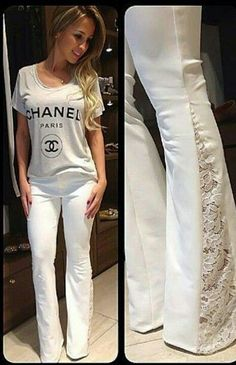 57 New Ideas Fashion Diy Clothes Upcycling Old Jeans Diy Clothing, Sewing Clothes, Sewing Pants, Diy Vetement, Diy Fashion, Fashion Design, Fashion Ideas, Mode Inspiration, Cute Outfits