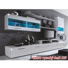 Obývací stěna LEO - bílá   Nábytek ATAN   Obývací pokoje