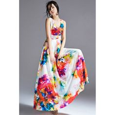 """'XS:Length:56.3"""",Bust:32.28"""",Waists:26.77"""" S:   Length:57.09"""",Bust:33.07"""",Waists:27.56"""" M:  Length:57.87"""",Bust:34.65"""",Waists:29.13""""  XS:Length:143cm,Bust:82cm,Waists:68cm S:   Length:145cm,Bust:84cm,Waists:70cm M:  Length:147cm,Bust:88cm,Waists:74cm  This Vintage Plunging V Neck Floral Ma..."""