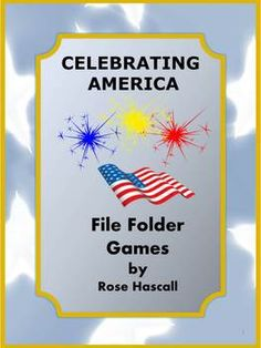 Celebrating America Printable File Folder Games PK-K, Special Education-All children love parades, picnics and celebrations. This packet Celebrating America Printable File Folder Games PK-K, Special Education combines the love of parades and picnics with the fun of file folder games.