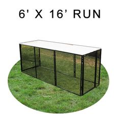 6' X 16' Chicken Run with Metal Top