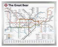 FYI: Rare Art Postcard, The Great Bear by Simon Patterson, London Underground Map by CavalierPostcards