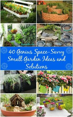 Brilliant pin to kick start spring gardening projects!! 40 Genius Space-Savvy Small Garden Ideas and Solutions