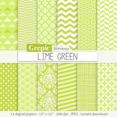 Lime green digital paper LIME GREEN citron lemon light by Grepic  https://www.etsy.com/listing/152707531/lime-green-digital-paper-lime-green?ref=shop_home_active_2