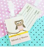 Owl Baby Shower Favors Luggage Tags