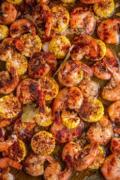 This easy and FAST Sheet Pan Cajun Garlic Butter Shrimp takes only 15 minutes to make — that includes cooking time! Enjoy these buttery shrimp with fresh corn and bread to soak up all the extra seasoned garlic butter! #Shrimp #ShrimpRecipes #ShrimpRecipe #SheetPanShrimp #SheetPanRecipes #SeafoodRecipes #EasyDinnerIdeas #QuickDinnerIdeas Shrimp Recipes Easy, Cajun Recipes, Fish Recipes, Seafood Recipes, Cooking Recipes, Supper Recipes, Shrimp Dishes, Fish Dishes, Kitchens