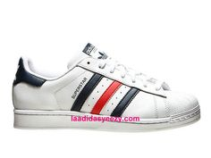 Adidas Chaussures Femme Originals Superstar Foundation Prix Blanc Bleu Rouge S79208