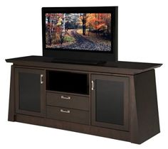 Furnitech 70 inch Contemporary Asian Console with Tapered Legs. (Chocolate Cherry Finish)