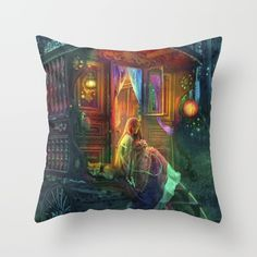 Gypsy Firefly Couch Throw Pillow by Aimee Stewart - Cover x with pillow insert - Indoor Pillow Throw Cushions, Couch Pillows, Designer Throw Pillows, Down Pillows, Accent Pillows, Fluffy Pillows, Pillow Design, Pillow Inserts, Decorative Pillows