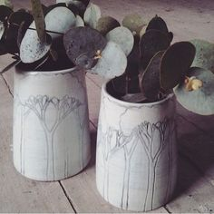 Trees in the mist vases by mountainclay